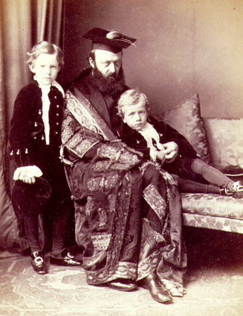 Lord Salisbury, and eldest two sons, Oxford 1870